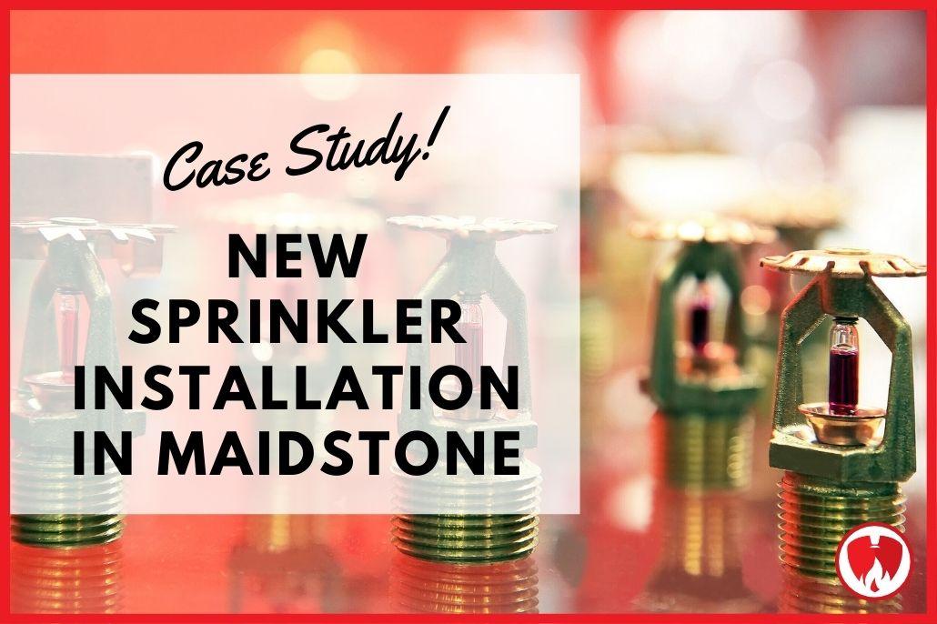New Sprinkler System Installation in Maidstone